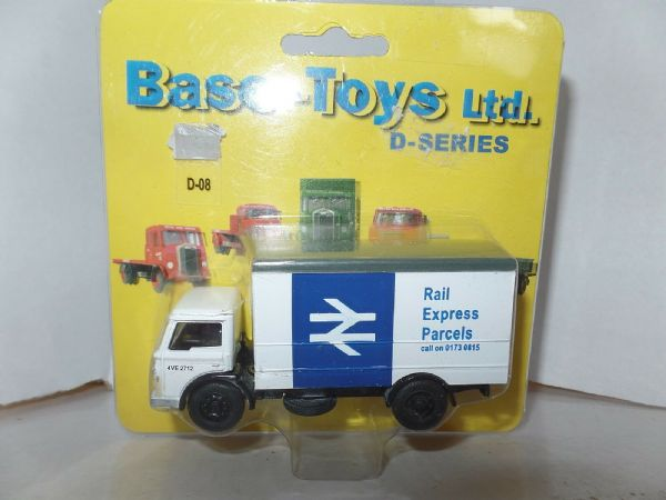 B T Models D-08 D08 Ford D Box Rail Express Parcels White & Blue